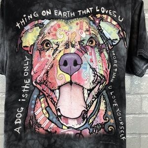 3D Tees | Tie Dye Tee Shirt Dog Logo